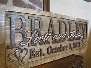 personalization wedding gifts personalized wedding gift custom family name signs 3d wood