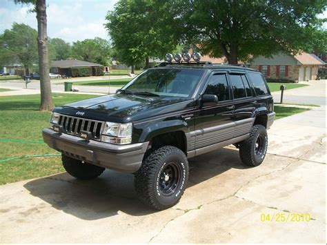 old jeep grand cherokee lifted lift kits for jeep zj 1998 jeep grand cherokee quot black