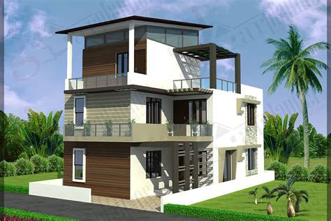 triplex house plans ghar planner