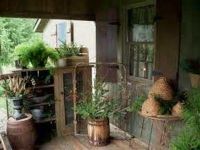 Country cottage primitives shop porch
