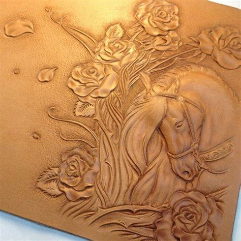 Carving Leather carved in leather