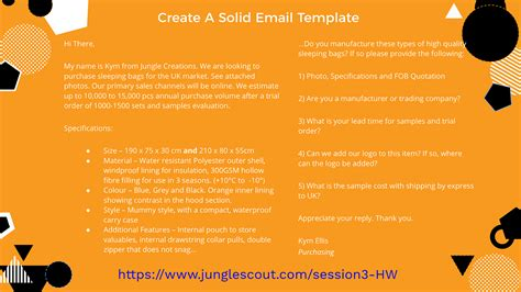 Jungle Scout Supplier Template Email Template Jungle Scout Amazon Product Research Made Easy
