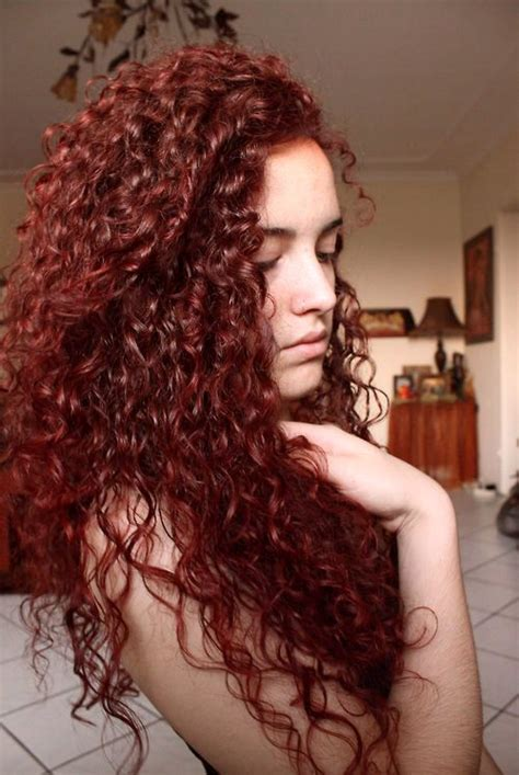 dyed curly hairstyles 530 best images about cabello rojo y violeta on
