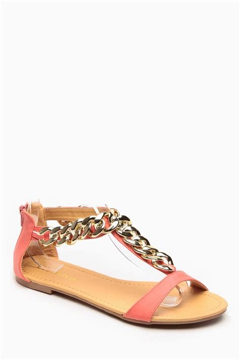 coral sandals liliana gold chain t coral sandals cicihot