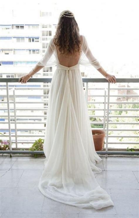 Robe De Mariée Simple Dentelle Dos - trouvez la meilleure robe de mari 233 e avec manches archzine fr