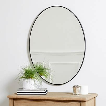 metal bathroom mirror chiltern thin metal oval mirror mirrors the white