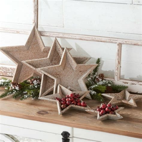 stackable star shaped tray set   antique farmhouse