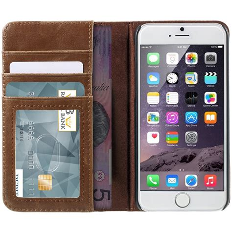Wallet Leather Iphone 6s vintage book leather wallet apple iphone 6s plus