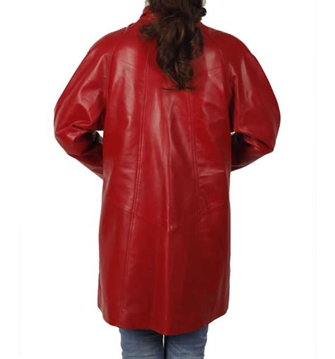 red leather swing coat 3 4 length red leather swing coat from simons leather