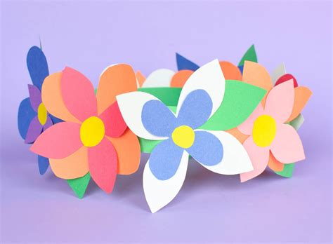 How Can We Make Flowers From Paper - how to make a flower crown out of paper howsto co