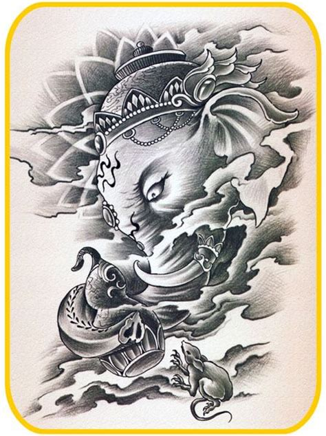 ganesh tattoo template 27 best images about ganesh on pinterest other colors