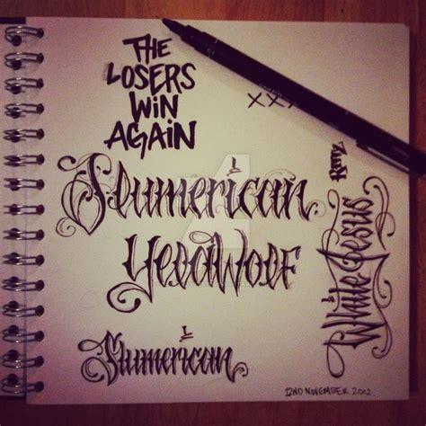 font yelawolf slumerican tattoos