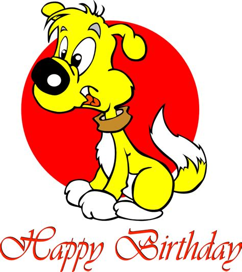 Happy Birthday Clip With Dogs Free by Happy Birthday Clip Cliparts