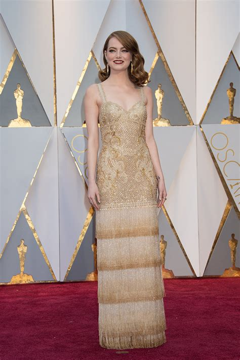 emma stone givenchy 89th academy awards best dressed on the red carpet at the