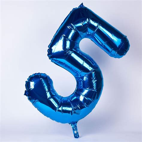 Wooden Drink Coaster by Number 5 Giant Foil Helium Balloon Blue Gettingpersonal