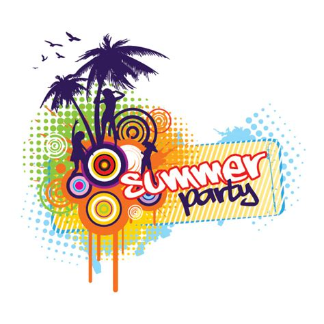 summer parties summer party vector graphic graphic hive