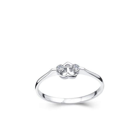 hearts promise ring on 10k white gold jeenjewels