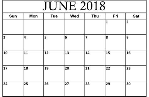 create printable html page june 2018 calendar blank printable