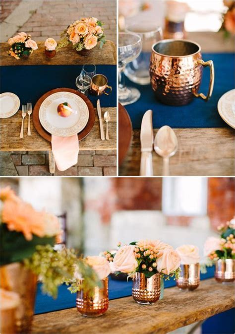 Copper and Peach Indie Wedding ideas   Rustic modern