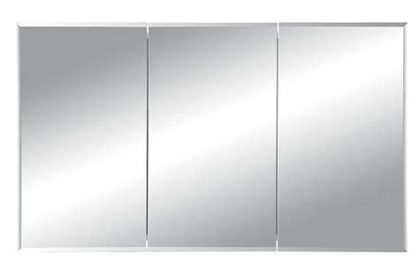 48 inch medicine cabinet recessed nutone 255048 horizon frameless medicine cabinet tri view