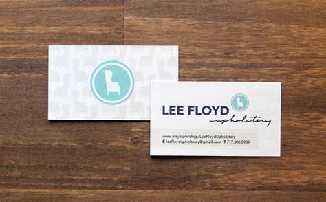 upholstery business cards lee floyd upholstery wade keller design
