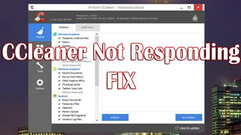 ccleaner not uninstalling ccleaner not responding youtube