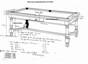 size of pool table need pool table plan woodworking talk woodworkers forum