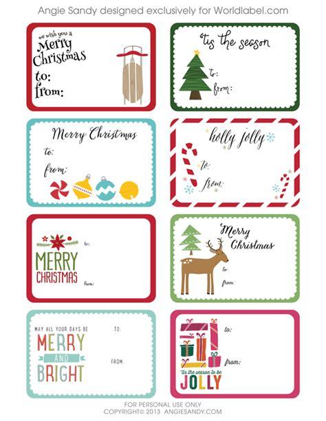 rectangle printable tags world label exclusive christmas gift tag printable angie
