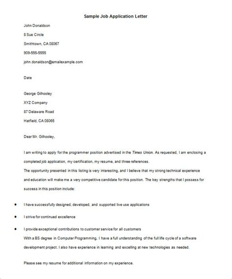 application letter email exle 20 letter templates pdf doc excel free premium