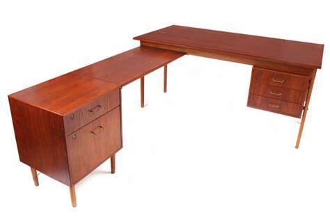 Desk With A Return by Torben Strandgaard Teak Desk Return Modern Furniture