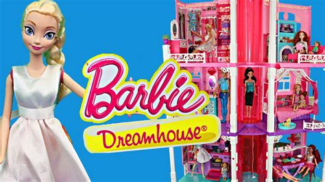 disney barbie doll house barbie dreamhouse dollhouse home tour by our disney princess dolls youtube