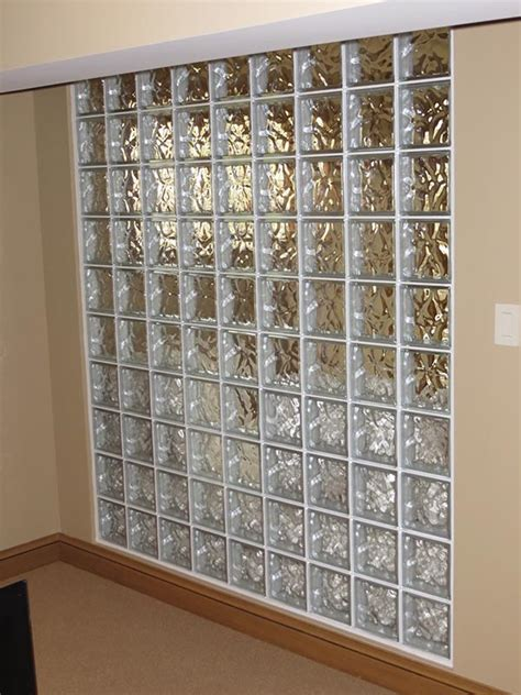 Houston Awnings Glass Block Walls Or Partition Glass Block Wall For Office