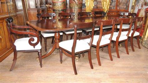 Antique Dining Tables And Chairs Regency Mahogany Dining Set William Iv Chairs Table Suite