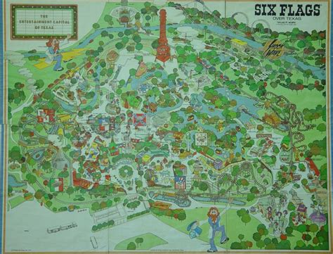 six flags texas map 1970s six flags texas map six flags texas