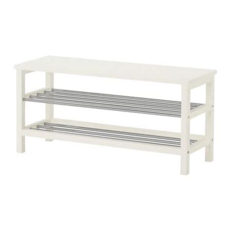 white shoe rack bench tjusig bench with shoe storage white ikea