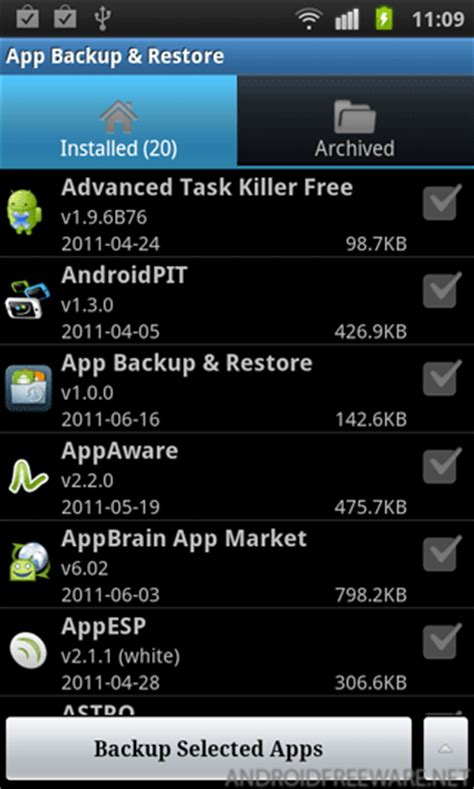backup and restore android app backup and restore free android app android freeware