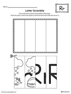 letter r worksheets letter r scramble worksheet myteachingstation 1435