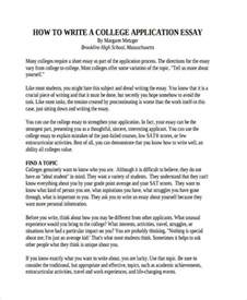 College Application Essay About Influential Person How To Write A Essay For College Application