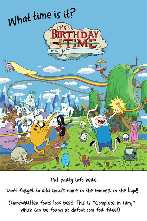 adventure time printable party decorations pin by tara robin on birthday adventure time pinterest