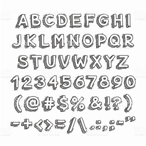 imagenes en 3d letras m 227 o desenhadas 3d letras e n 250 meros arte vetorial de