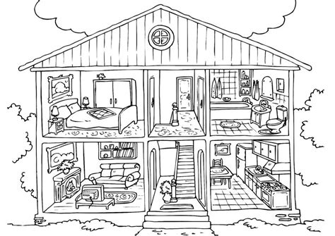 Printable Coloring Pages House | free printable house coloring pages for kids
