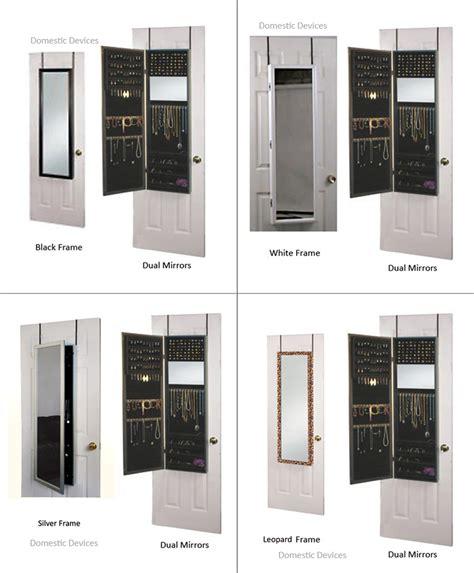 the door jewelry cabinet jewelry armoire organizer with mirror door wall hanging ebay