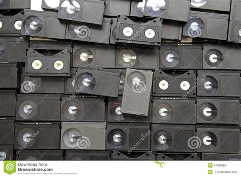 7 Audio Cassettes And 3 Video Cassettes by Betamax Vcr Tape Cassettes Stock Photo Image Of Copy