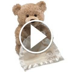 the peek a boo animated bear hammacher schlemmer