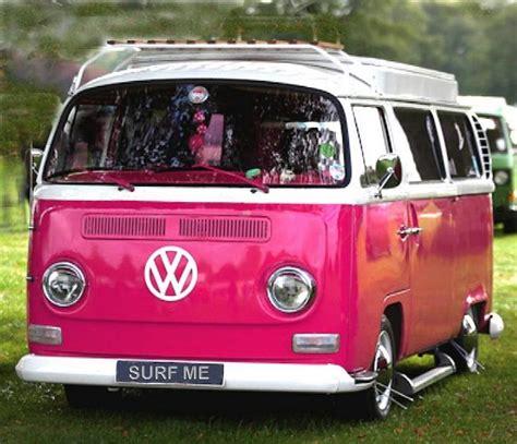 van volkswagen pink pink vw wagon thinkpink aesthetics pinterest