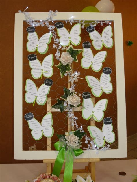 plan de table mariage th 232 me printemps et nature