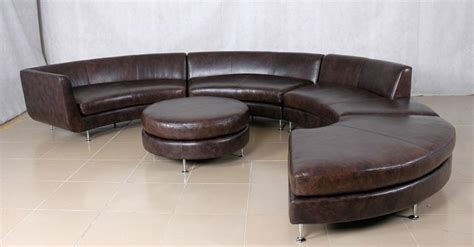 circular leather sofa round leather sofa leather sectional sofas with round gl