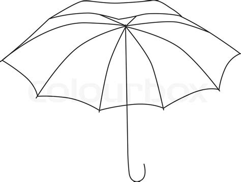 umbrella layout vector umbrella on white background vector illustration stock
