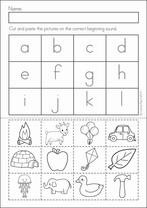 worksheets kindergarten cut and paste worksheets 46 best