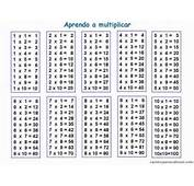TAREAS Y M&193S Tabla De Multiplicar